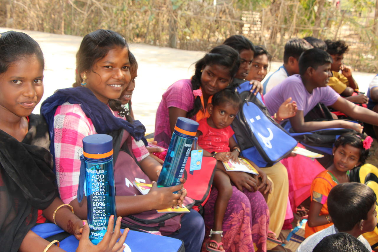 Water bottles are an important add-on as they allow children to drink clean water throughout the day
